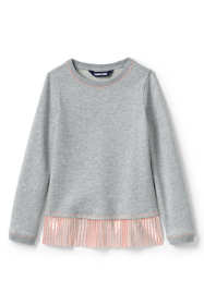 Girls Sweatshirt and Ruffle Hem Top