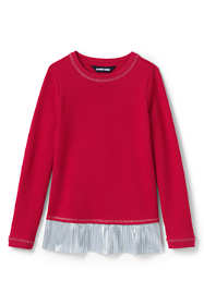 Girls Plus Size Sweatshirt and Ruffle Hem Top
