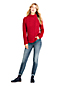 Women's Lofty Aran Cable Knit Funnel Neck Jumper