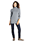 Women's Petite Basketweave Roll Neck Tunic Jumper