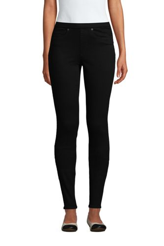 High Waist Jeggings in Schwarz für Damen