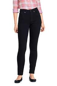 Women's Tall Curvy Mid Rise Skinny Jeans - Black