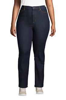 Women's Water Conserve Eco Friendly Jeans, High Waist, Straight Leg