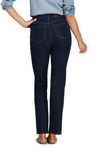 Women's Tall Water Conserve Eco Friendly High Rise Straight Leg Jeans - Blue