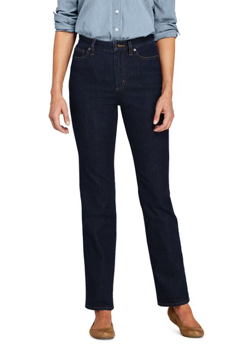 Women's Water Conserve Eco Friendly High Rise Straight Leg Jeans - Blue