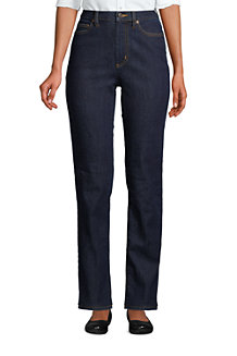 Women's Water Conserve Eco Friendly Jeans, High Waist, Straight Leg