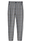 Women's Mid Rise Jacquard Jersey Check Trousers