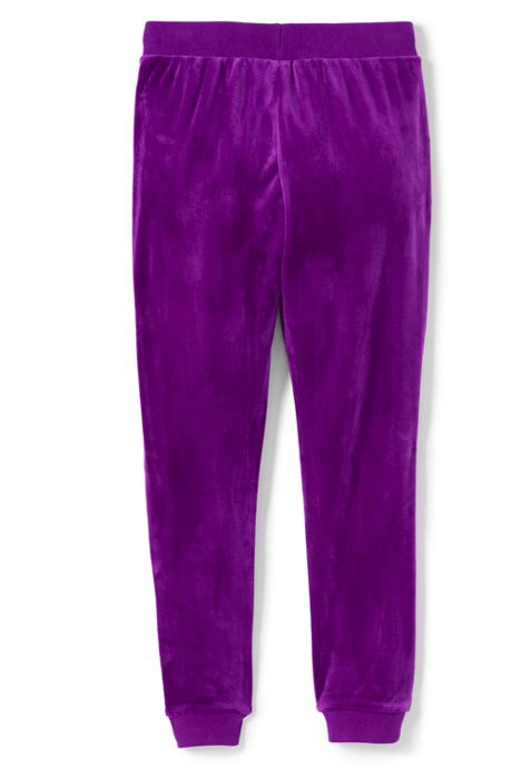 Little Girls Iron Knee Velour Jogger
