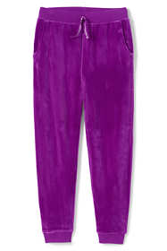 Girls Plus Size Iron Knee Velour Jogger