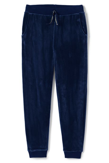 Girls Iron Knee Velour Jogger