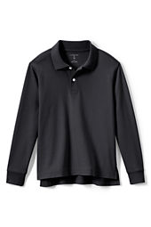 Kids' Long Sleeve Performance Interlock Polo Shirt
