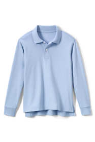 Little Kids Long Sleeve Interlock Polo Shirt