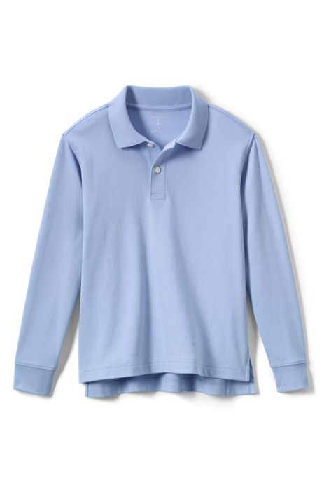 School Uniform Little Kids Long Sleeve Interlock Polo Shirt