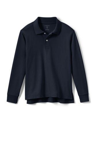 School Uniform Kids Long Sleeve Interlock Polo Shirt