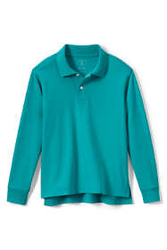 Big Kids Long Sleeve Interlock Polo