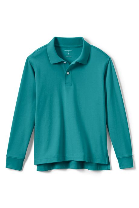 Kids Long Sleeve Interlock Polo Shirt