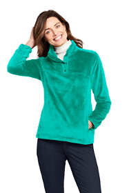 Women's Softest Fleece Snap Neck Pullover Top