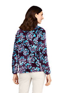 Women's Tall Print Softest Fleece Jacket, Back