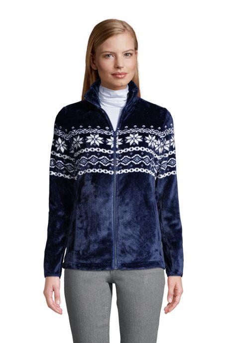 Women's Petite Print Softest Fleece Jacket