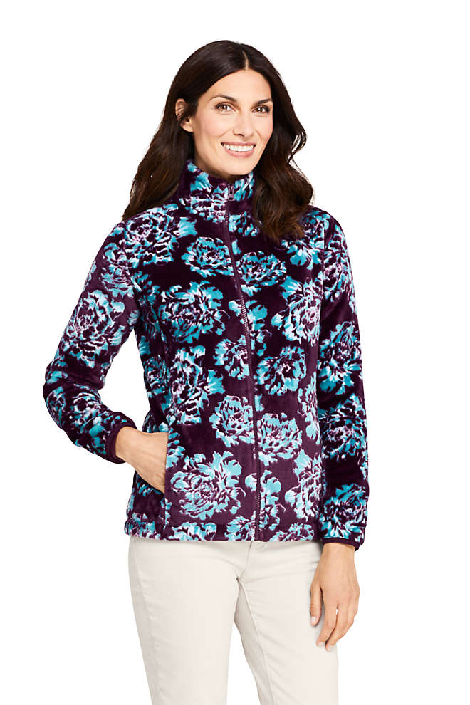Women's Tall Print Softest Fleece Jacket, Front
