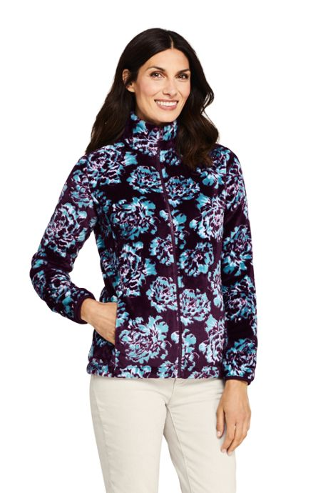 Women's Tall Print Softest Fleece Jacket