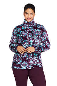 Women's Plus Size Print Softest Fleece Jacket
