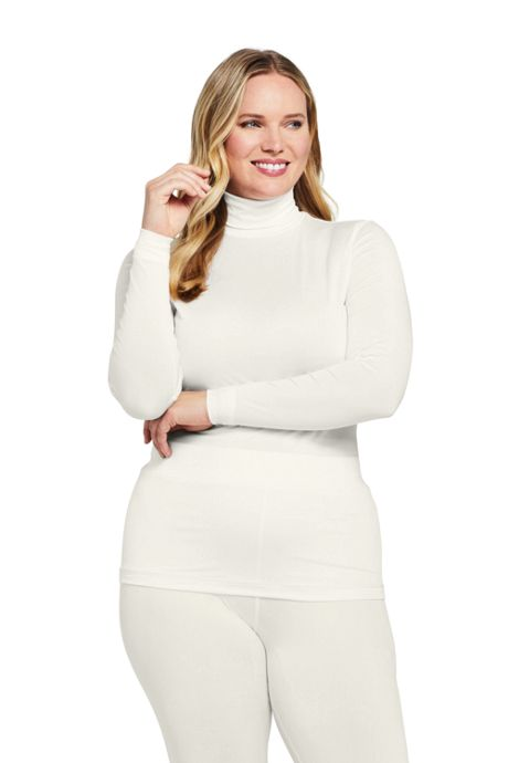 Women's Plus Size Thermaskin Heat Turtleneck