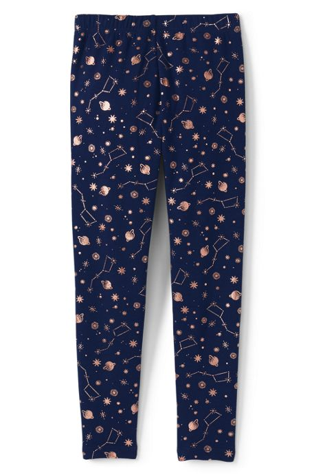 Girls Fleece Lined Pattern Leggings
