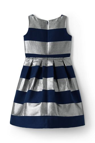Girls Stripe Christmas Dress