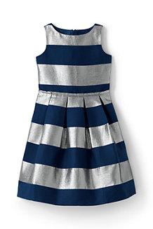 Girls' Sparkle Stripe Party Dress