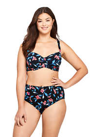 Women's Plus Size Underwire Bikini Top Swimsuit Print