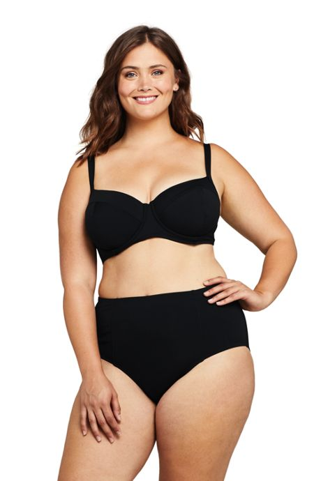 Women's Plus Size Underwire Bikini Top Swimsuit
