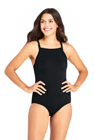 Women's Chlorine Resistant Square Neck One Piece Athletic Swimsuit
