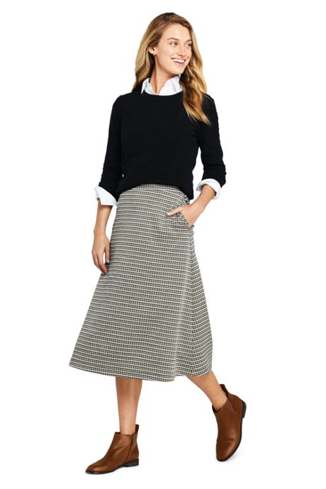 Women's Print Knit Boot Midi Skirt