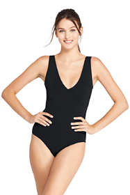 Women's Long V-neck One Piece Swimsuit