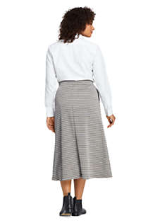 Women's Plus Size Print Knit Midi Skirt, Back