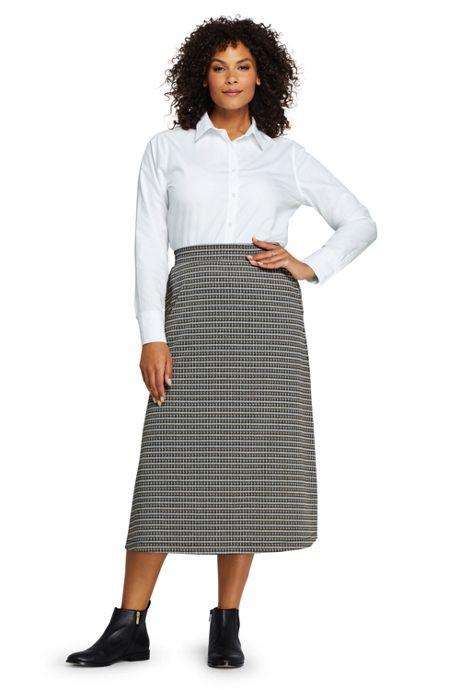 Women's Plus Size Print Knit Boot Midi Skirt