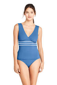 Women's Embroidered V-neck Tankini Top Swimsuit