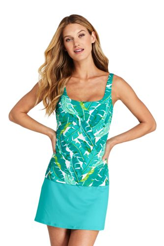 Women's Beach Living Chlorine Resistant Tankini Top