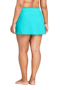 Women's Plus Size Tummy Control Chlorine Resistant Swim Skirt Swim Bottoms, Back