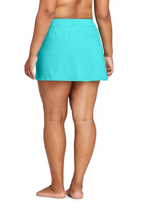 Women's Plus Size Tummy Control Chlorine Resistant Swim Skirt Swim Bottoms
