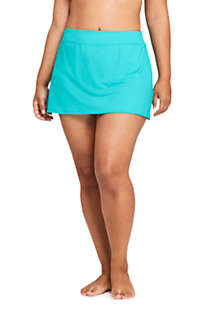 Women's Plus Size Tummy Control Chlorine Resistant Swim Skirt Swim Bottoms, Front