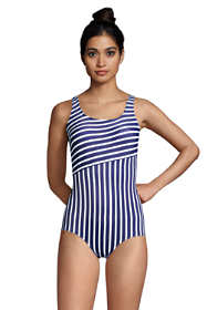 Women's DD-Cup Chlorine Resistant Tugless One Piece Swimsuit Soft Cup Print