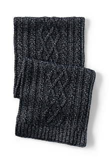 Women's Aran Cable Knit Scarf