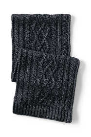 Women's Aran Cable Knit Winter Scarf