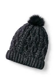 Women's Aran Cable Knit Winter Beanie Hat