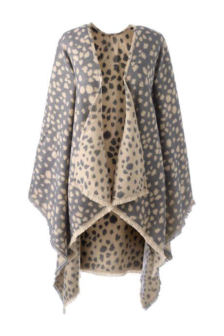 Women's Reversible CashTouch Shawl Wrap - Print