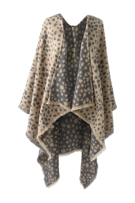 Women's Reversible CashTouch Shawl Wrap - Print