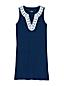 Robe de Plage Sans Manches Encolure Brodée, Femme Stature Standard