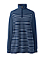 Women's Mixed Stripe French Terry Half-zip Sweatshirt Tunic
